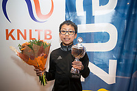 Hilversum, Netherlands, December 3, 2017, Winter Youth Circuit Masters, 12,14,and 16 years, winner boys  12 years Jesse Tan<br /> Photo: Tennisimages/Henk Koster