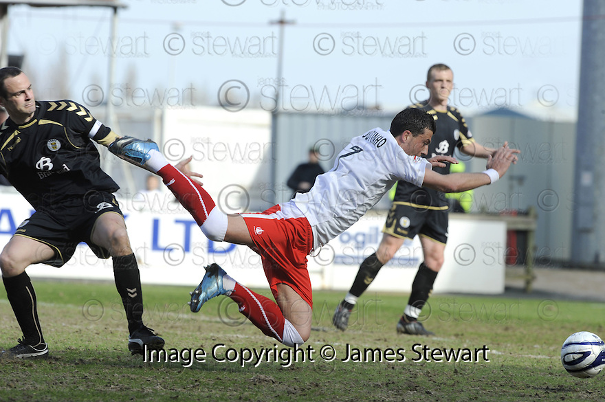 10/04/2010   Copyright  Pic : James Stewart.sct_jsp02_falkirk_v_st_mirren  .::  PEDRO MOUTINHO IS BROUGHT DOWN BY JOHN POTTER FOR THE FOUL THAT LED TO FALKIRK'S FIRST ::  .James Stewart Photography 19 Carronlea Drive, Falkirk. FK2 8DN      Vat Reg No. 607 6932 25.Telephone      : +44 (0)1324 570291 .Mobile              : +44 (0)7721 416997.E-mail  :  jim@jspa.co.uk.If you require further information then contact Jim Stewart on any of the numbers above.........