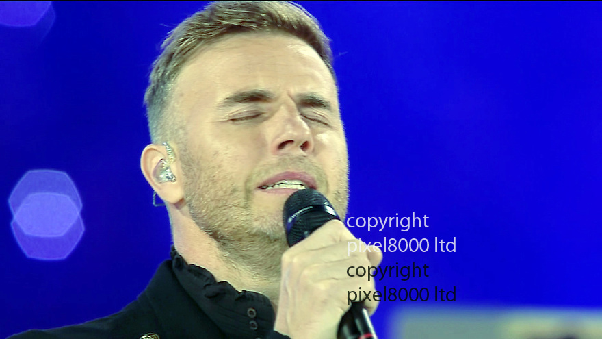 Olympics 2012 - BBC Coverage.Closing ceremony.tragedy hit Gary Barlow closed the show..Picture by Pixel8000 07917221968