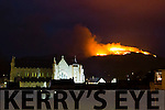 Gorse fires rage at Cloghanelinaghan/Caslequin Cahersiveen on Saturday night last.