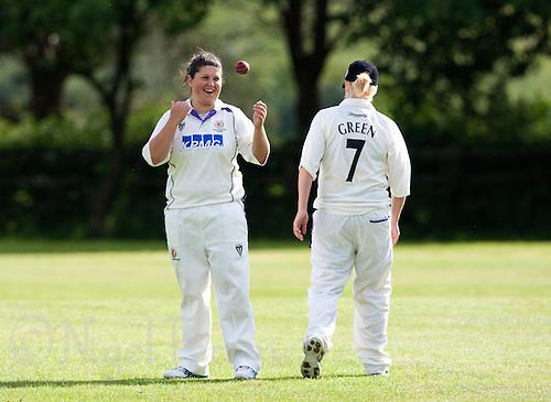 18 JUN 2009 - LEEK,GBR - Vicky Ball (Loughborough University) - Loughborough University v Leeds Met Carnegie - BUCS Women's Cricket Championship Final 2009 (PHOTO (C) NIGEL FARROW)