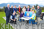 Reminiding cyclist that you can only register online this year for the 2014 Ring of Kerry Cycle were front row l-r: Ian Bell, John Rice, Carena, James Looney. Back row: Cathal Walshe, Padraig Tracey, Bartoz Czostkov, Brendan Coffey, Catriona Buckley, Liam Lynch
