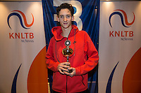 Hilversum, Netherlands, December 4, 2016, Winter Youth Circuit Masters, 3 th place boys 16 years Max van Nunen <br /> Photo: Tennisimages/Henk Koster