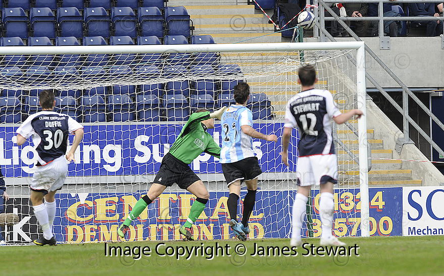 24/04/2010   Copyright  Pic : James Stewart.sct_jsp002_falkirk_v_hamilton  .::  MARCO PAIXAO SCORES HAMILTON'S FIRST ::  .James Stewart Photography 19 Carronlea Drive, Falkirk. FK2 8DN      Vat Reg No. 607 6932 25.Telephone      : +44 (0)1324 570291 .Mobile              : +44 (0)7721 416997.E-mail  :  jim@jspa.co.uk.If you require further information then contact Jim Stewart on any of the numbers above.........