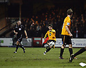 Adam Marriott of Cambridge United scores from a free-kick during the Blue Square Bet Premier match between Cambridge United and Kidderminster Harriers at the Abbey Stadium, Cambridge on 18th February, 2011 .© Kevin Coleman 2011.