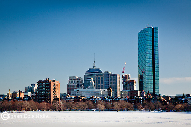 Back Bay skyline and Charles River, Boston, MA
