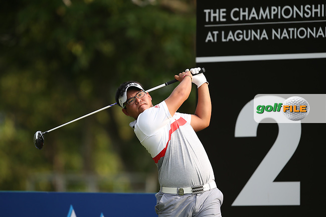 Panuphol Pittayarat (THA) is the clubhouse leader with a 63 (-9) at the halfway mark during Round One of the The Championship 2014 from the Laguna National Golf & Country Club, Tampines, Singapore. Picture:  David Lloyd / www.golffile.ie