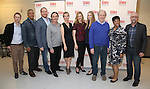 Michael Benz, Charles Turner, Darren Goldstein, Richard Thomas, Cynthia Nixon, Laura Linney, Lyla Porters-Follows, Michael McKean, Caroline Stefanie and David Alford attend the cast photo call for the Manhattan Theatre Club's New Broadway Production of 'The Little Foxes' at the MTC Rehearsal studios on February 27, 2017 in New York City.