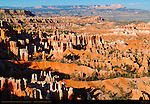 Queen's Garden and Fairyland Canyon Hoodoos, Sinking Ship Mesa and Aquarius Plateau from Sunset Point, Bryce Canyon National Park, Utah