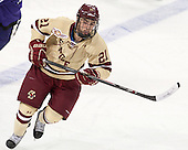Matthew Gaudreau (BC - 21) - The visiting College of the Holy Cross Crusaders defeated the Boston College Eagles 5-4 on Friday, November 29, 2013, at Kelley Rink in Conte Forum in Chestnut Hill, Massachusetts.