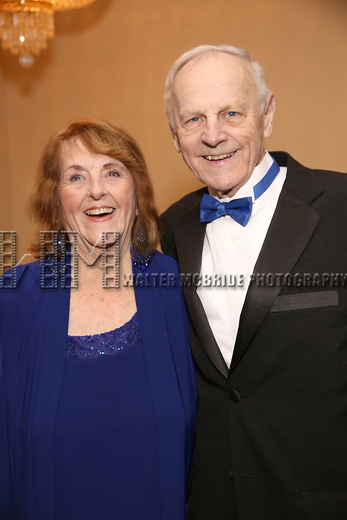 Virginia Comley and James F. Comley attend the Broadway Opening Night of Sunset Boulevard' at the Palace Theatre Theatre on February 9, 2017 in New York City.