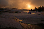 Old Faithful Sunrise, Yellowstone NP