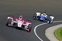 Verizon IndyCar Series<br /> Indianapolis 500 Carb Day<br /> Indianapolis Motor Speedway, Indianapolis, IN USA<br /> Friday 26 May 2017<br /> Pippa Mann, Dale Coyne Racing Honda, Jay Howard, Schmidt Peterson Motorsports Honda<br /> World Copyright: F. Peirce Williams