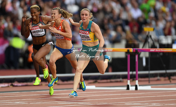 SallyPEARSON (AUS) in the womens 100m hurdles semi-final. IAAF world athletics championships. London Olympic stadium. Queen Elizabeth Olympic park. Stratford. London. UK. 11/08/2017. ~ MANDATORY CREDIT Garry Bowden/SIPPA - NO UNAUTHORISED USE - +44 7837 394578