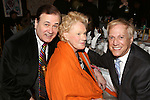 Lee Roy Reams, Tammy Grimes and David Lewis attends the '12th Annual Love N' Courage' celebrating David Amram and Tammy Grimes at The Players Club on March 2,, 2015 in New York City.