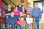 Mary Herlihy, Lower Sunnyhill, Killarney, pictured with Tom Herlihy, Joshua and Leighanne Meyer, Margaret Joy, Paula and Ashley Meyer, Breda and Brendan Joy and Liam Joy as she celebrated her 60th birthday in Lord Kenmares Restaurant, Killarney on Thursday night.........