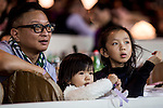 Guests attend the Longines Hong Kong Masters 2015 at the Asiaworld Expo on 15 February 2015 in Hong Kong, China. Photo by Jerome Favre / Power Sport Images