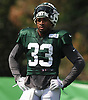 Jamal Adams #33 of the New York Jets practices during training camp at the Atlantic Health Jets Training Center in Florham Park, NJ on Monday, Aug. 6, 2018.