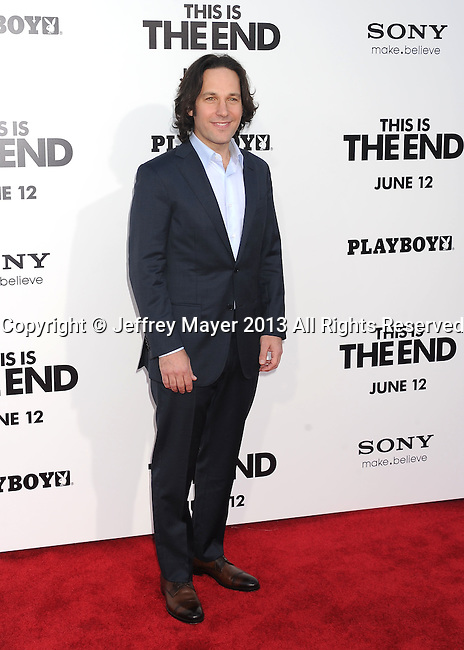 WESTWOOD, CA- JUNE 03: Actor Paul Rudd arrives at the 'This Is The End' - Los Angeles Premiere at Regency Village Theatre on June 3, 2013 in Westwood, California.