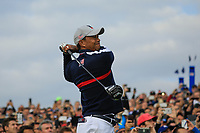 Tiger Woods (Team USA) at the Ryder Cup, Le Golf National, Paris, France. 27/09/2018.<br /> Picture Phil Inglis / Golffile.ie<br /> <br /> All photo usage must carry mandatory copyright credit (© Golffile | Phil Inglis)