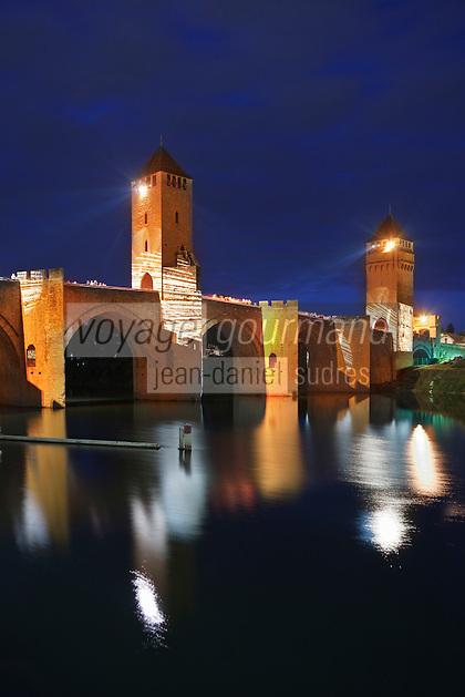 Europe/Europe/France/Midi-Pyrénées/46/Lot/Cahors: Le Pont Valentré - Spectacle Son et Lumière