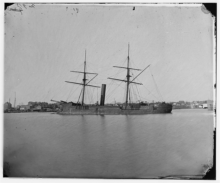 TITLE:  [Washington, D.C. Ex-Confederate iron-clad ram Stonewall at anchor; U.S. Capitol in the background].SUMMARY:  Photographs of the Federal Navy, and seaborne expeditions against the Atlantic Coast of the Confederacy -- the Federal Navy, 1861-1865...CREATED/PUBLISHED:  1865 June.