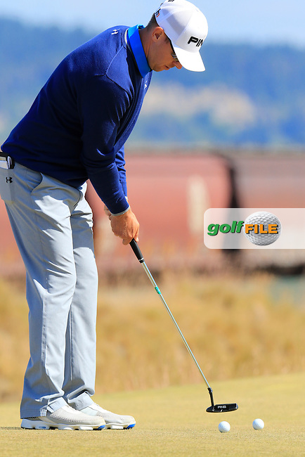 Hunter MAHAN (USA) on the 17th green during Wednesday's Practice Day of the 2015 U.S. Open 115th National Championship held at Chambers Bay, Seattle, Washington, USA. 6/17/2015.<br /> Picture &copy; Golffile/Eoin Clarke
