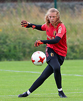 20200627 - TUBIZE , Belgium : Goal keeper Faye Lammertijn is pictured during a training session of the Belgian Red Flames U17, on the 27 th of June 2020 in Tubize.  PHOTO SEVIL OKTEM| SPORTPIX.BE