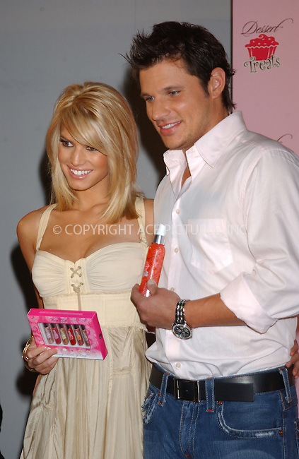 "WWW.ACEPIXS.COM . . . . . ....NEW YORK, FEBRUARY 9, 2005....Nick Lachey and Jessica Simpson at the unveiling of her new fragrance and body care line ""Dessert Treats.""....Please byline: KRISTIN CALLAHAN - ACE PICTURES.. . . . . . ..Ace Pictures, Inc:  ..Philip Vaughan (646) 769-0430..e-mail: info@acepixs.com..web: http://www.acepixs.com"