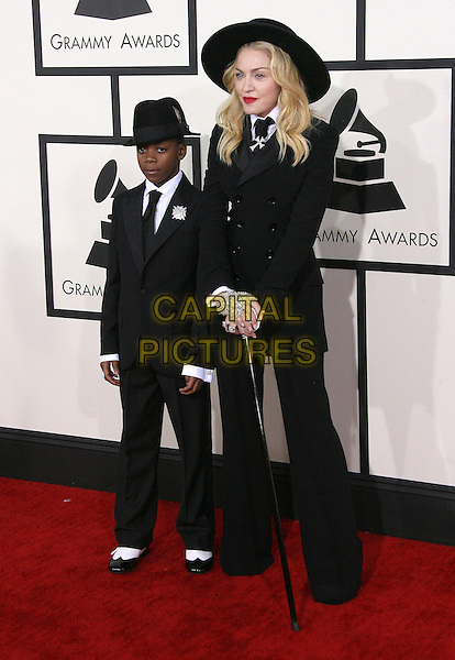 LOS ANGELES, CA - JANUARY 26 - Madonna, David Banda. 56th GRAMMY Awards held at the Staples Center. <br /> CAP/ADM<br /> &copy;AdMedia/Capital Pictures