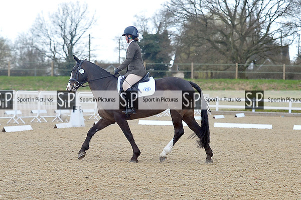 Class 7. Pony Club Dengie Winter Dressage Area Finals. Brook Farm Training Centre. Essex. 29/03/2015. MANDATORY Credit Ellie Ingram/Sportinpictures - NO UNAUTHORISED USE - 07837 394578