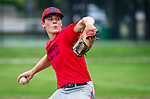 WINSTED , CT-080720JS16—Winsted's Drew Warren (16) delivers a pitch during their CTEBA U19 playoff game with Waterford Friday at Walker Field in Winsted. <br /> Jim Shannon Republican-American