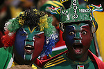 16 JUN 2010: South Africa fans. The South Africa National Team lost 0-3 to the Uruguay National Team at Loftus Versfeld Stadium in Tshwane/Pretoria, South Africa in a 2010 FIFA World Cup Group A match.