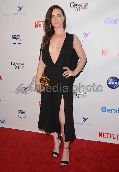09 December - Beverly Hills, Ca - Amy Manson. Arrivals for the Junior Hollywood Radio and Television Society's 13th Annual Holiday Party held at Greystone Manor. Photo Credit: Birdie Thompson/AdMedia