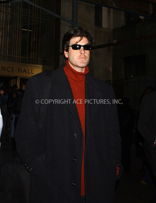 WWW.ACEPIXS.COM . . . . . ..New York, November 29, 2004: Robert Chambers AKA 'the Preppie Killer' enters Manhattan Criminal Court after being charged with possession of a controlled substance and driving with a suspended license. Please byline: ACE006 - ACE PICTURES.. . . . . . ..Ace Pictures, Inc:  ..Alecsey Boldeskul (646) 267-6913 ..Philip Vaughan (646) 769-0430..e-mail: info@acepixs.com..web: http://www.acepixs.com