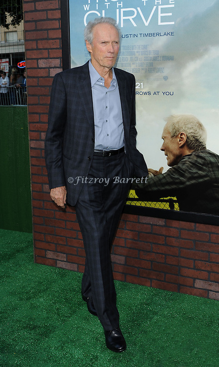 Clint Eastwood at the premiere for Trouble With The Curve, at The Village Theatre in Westwood, CA. September 19, 2012