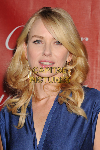 Naomi Watts.The 24th Annual Palm Springs International Film Festival Awards Gala at the Palm Springs Convention Center in Palm Springs, California, USA..January 5th, 2013.headshot portrait blue  .CAP/ROT/TM.©Tony Michaels/Roth Stock/Capital Pictures