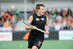 The Hague, Netherlands, June 03: Marcus Child #13 of New Zealand in action during the field hockey group match (Men - Group B) between South Africa and the Black Sticks of New Zealand on June 3, 2014 during the World Cup 2014 at GreenFields Stadium in The Hague, Netherlands. Final score 0:5 (0:3) (Photo by Dirk Markgraf / www.265-images.com) *** Local caption ***