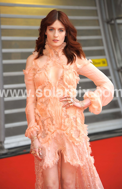 **ALL ROUND PICTURES FROM SOLARPIX.COM**                                             **WORLDWIDE SYNDICATION RIGHTS**                                                                                  Stars arrive at London's O2 Arena for the 2012 Brit Awards..This pic:  Florence Welch                                                                     .JOB REF:    14495   MSR     DATE:   22.02.12                                                         **MUST CREDIT SOLARPIX.COM OR DOUBLE FEE WILL BE CHARGED**                                                                      **MUST AGREE FEE BEFORE ONLINE USAGE**                               **CALL US ON: +34 952 811 768 or LOW RATE FROM UK 0844 617 7637**