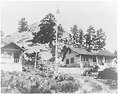 USDA Forest Service Ranger Station at Tres Piedras, NM.  The Ford Model T was acquired in 1919.  Print notation gives a date of 1935-37.<br /> USDA Forest Service  Tres Piedras, NM