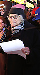 Betty Buckley attends The Ghostlight Project to light a light and make a pledge to stand for and protect the values of inclusion, participation, and compassion for everyone - regardless of race, class, religion, country of origin, immigration status, (dis)ability, gender identity, or sexual orientation at The TKTS Stairs on January 19, 2017 in New York City.