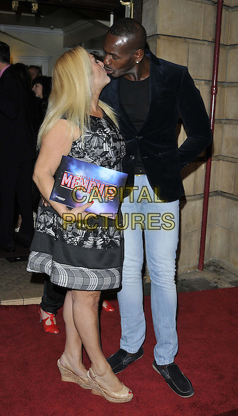 LONDON, ENGLAND - OCTOBER 23: Vanessa Feltz &amp; Ben Ofoedu attend the &quot;Memphis&quot; press night performance, Shaftesbury Theatre, Shaftesbury Avenue, on Thursday October 23, 2014 in London, England, UK. <br /> CAP/CAN<br /> &copy;Can Nguyen/Capital Pictures