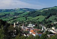 Austria, Lower Austria, Waidhofen, in background pilgrimage church Sonntagberg