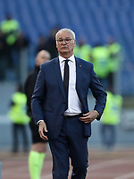 Football, Serie A: AS Roma - Cagliari, Olympic stadium, Rome, April 27, 2019. <br /> Roma's coach Claudio Ranieri looks on during the Italian Serie A football match between AS Roma and Cagliari, on April 27, 2019. <br /> UPDATE IMAGES PRESS/Isabella Bonotto