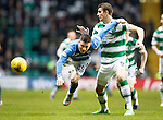 Celtic v St Johnstone...23.01.16   SPFL  Celtic Park, Glasgow<br /> Michael O'Halloran is sent flying by Jozo Simunovic<br /> Picture by Graeme Hart.<br /> Copyright Perthshire Picture Agency<br /> Tel: 01738 623350  Mobile: 07990 594431
