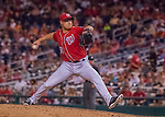 6 August 2016: Washington Nationals pitcher Jonathan Papelbon on the mound against the San Francisco Giants at Nationals Park in Washington, DC. The Giants defeated the Nationals 7-1 to even their series at one game apiece. Mandatory Credit: Ed Wolfstein Photo *** RAW (NEF) Image File Available ***