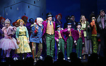 Emma Pfaeffle, Jackie Hoffman, John Rubinstein, Christian Borle, Jake Ryan Flynn, Ryan Sell, Ryan Foust, Emily Padgett, Michael Wartella, Ben Crawford  and cast during the Broadway Opening Performance Curtain Call of 'Charlie and the Chocolate Factory' at the Lunt-Fontanne Theatre on April 23, 2017 in New York City.