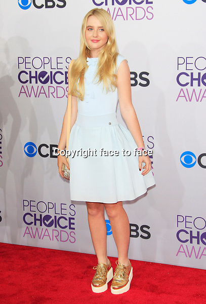 Kathryn Newton attending the 34th Annual People's Choice Awards at the Nokia Theatre in Los Angeles, California, January 9, 2013...Credit: Martin Smith/face to face