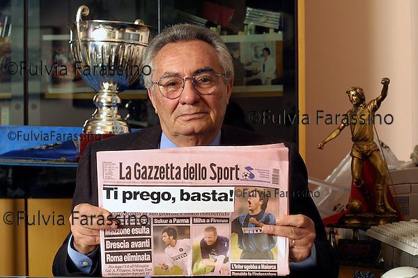 Candido Cannavò.9 gennaio 2002
