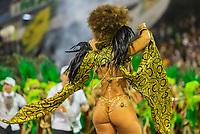 SÃO PAULO, SP, 09.03.2019 - CARNAVAL-SP - Viviane Araújo, rainha de bateria da escola de samba Mancha Verde durante Desfile das campeãs do Carnaval de São Paulo, no Sambódromo do Anhembi em Sao Paulo, na madrugada deste sábado, 09. (Foto: Anderson Lira/Brazil Photo Press)